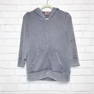 Juicy Couture 3/4 Sleeve Grey Jacket